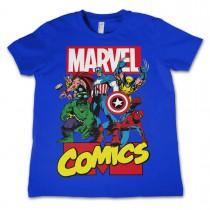 Marvel Comics Kids Heroes Blue T-Shirt