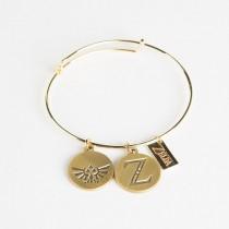Zelda Bracelet with Z & Triforce Charms